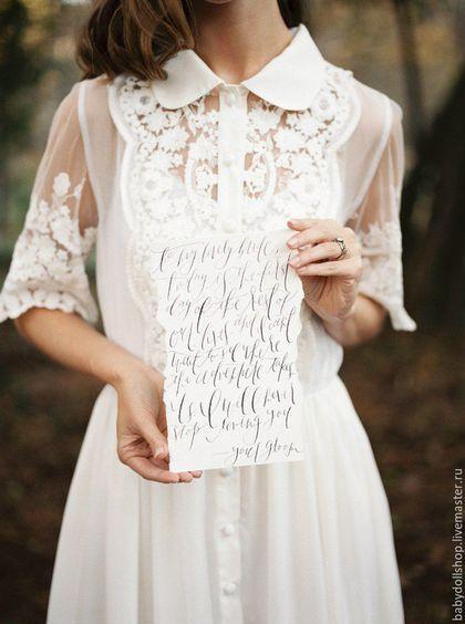 Платье из батиста и кружева купить
