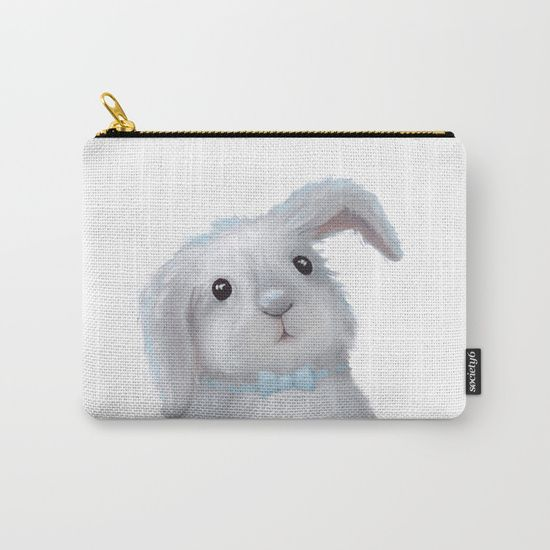 White Rabbit Boy isolated Carry-All Pouch on @society6 Buy print and other product with my fine art  online:  https://society6.com/oxygen White cute bunny rabbit Digital illustration for kids isolated on white #Animals #ArtForHome #FineArtPrints #InteriorDesign #OksanaAriskina  #HomeDecor #FineArtPrint #Wall #PrintsForSale  #Illustration #Watercolor #WallArt