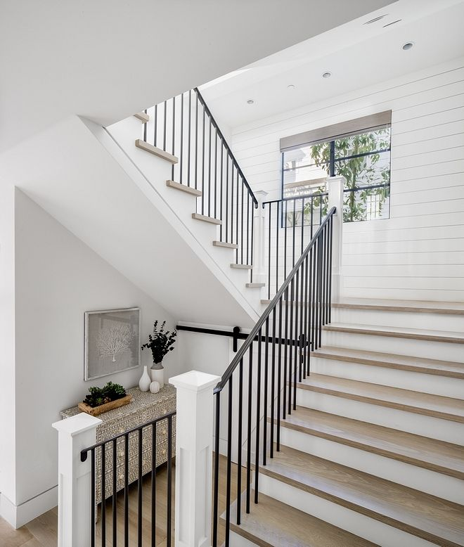 Banister Option House Interior California Homes Home Interior | Shaker Style Stair Railing | White | Exterior | Loft | Farmhouse Front Door | Square
