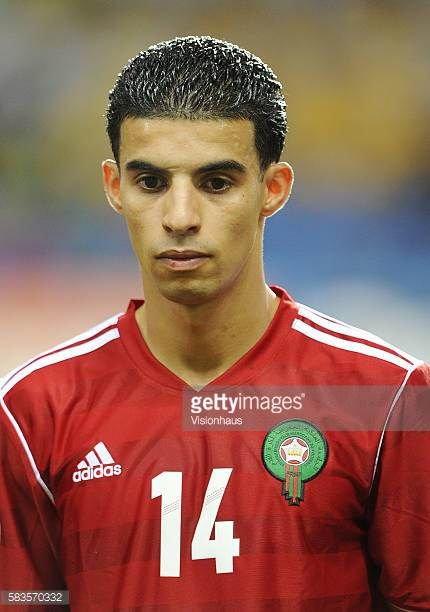 Mbark Boussoufa of Morocco during the 2012 African Cup of Nations Group C match between Morocco and Tunisa at the Stade de l'Amitie in Libreville...