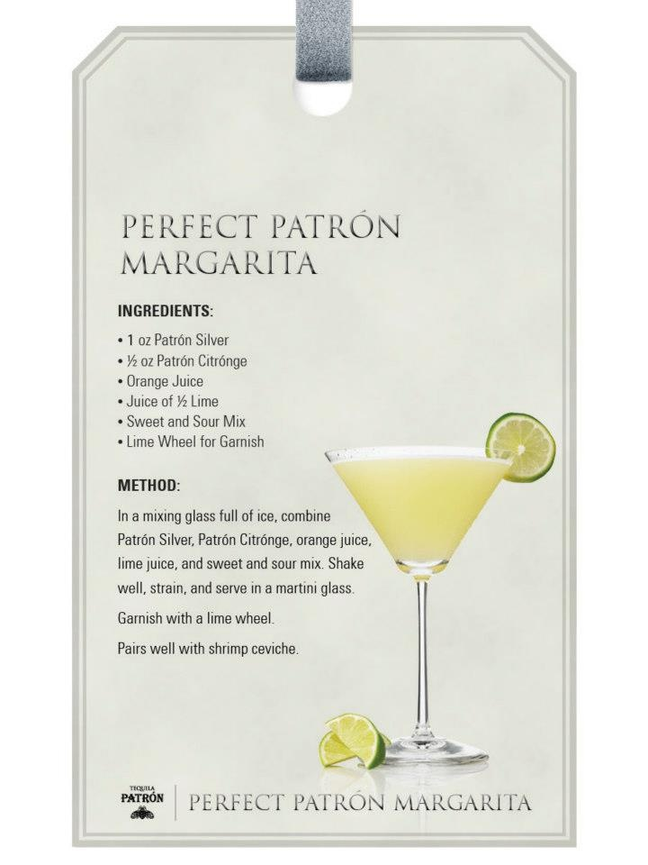 Perfect Patron Margarita....orange slices in mine please...oh and a drizzle of Grand Marnier on top!