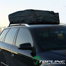UNIVERSAL BLACK WATERPROOF ROOF TOP CARGO CARRIER BAG TRAVEL LUGGAGE STORAGE TO