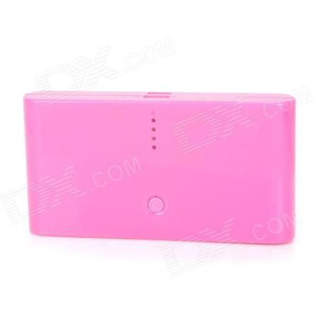 """Mobile """"20000mAh"""" Power Bank w/ Dual-USB for Amazon Kindle Fire / Paperwhite - Pink  — 867.18 руб. —  Color Pink Brand N/A Model N/A Quantity 1 Set Material ABS Compatible Models Amazon Kindle touch / Kindle3 / Kindle4 / Kindle Fire / Kindle Fire HD / Kindle Paperwhite / Kindle fire HDX 7 / kindle fire HDX 8.9 / Kindle fire HD2 Battery Type Li-ion battery Nominal Capacity 20000 mAh Battery Actual Capacity 13000 mAh Capacity Range 15000mAh~20000mAh Input Voltage 5 V Output Current 1 / 2.1 A…"""