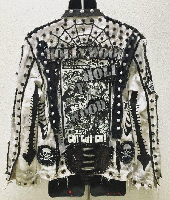 giacca in pelle heavy metal