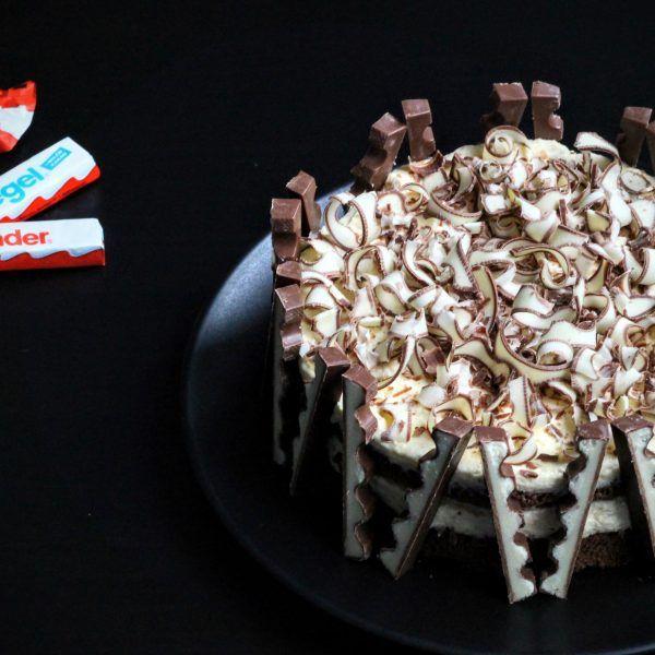 Klein, aber sowas von oho: Kinderriegel-Torte