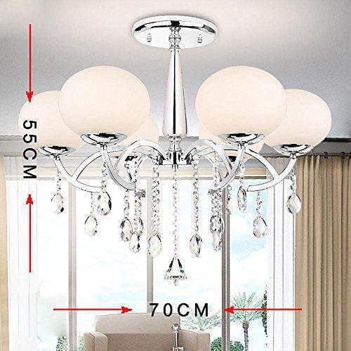 Lonfenner Minimaliste moderne conduit cristal lumière ronde cristal lustre mode créatif cristal lampe chambre salon lustre en Cristal…