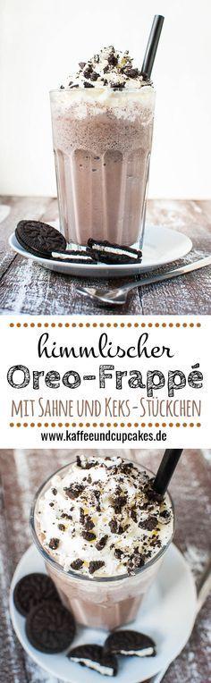Himmlischer Oreo-Frappé mit Sahne und Keks-Stückchen