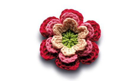 colorful crochet flower pattern