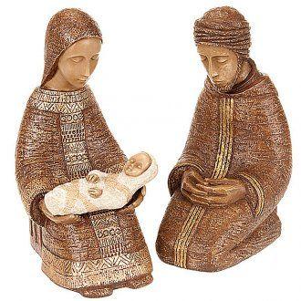 Natividad Virgen campesina grande - marrón | venta online en HOLYART