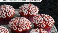 Red Velvet Brain Cupcakes video: Our food director Annabelle Waugh shows you how to pipe icing brains atop red velvet cupcakes to make delightfully freaky Halloween treats.