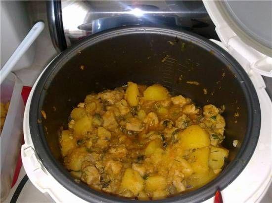 Говядина, тушеная с картофелем