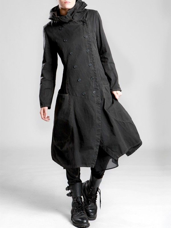 COTTON COAT WITH FLEECE LINING IN THE BODY AND RESIN COATING - Woman -