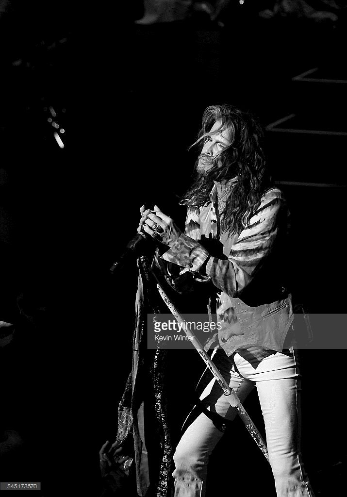 Singer Steven Tyler performs during his 'Out on a Limb' tour at the Dolby Theatre on July 5, 2016 in Los Angeles, California.