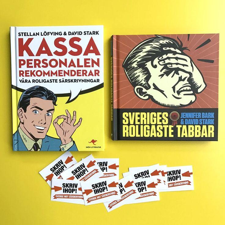 Produkten Två nya succéböcker till paketpris! säljs av Humorböcker i vår Tictail-butik.  Tictail låter dig skapa en snygg nätbutik helt gratis - tictail.com