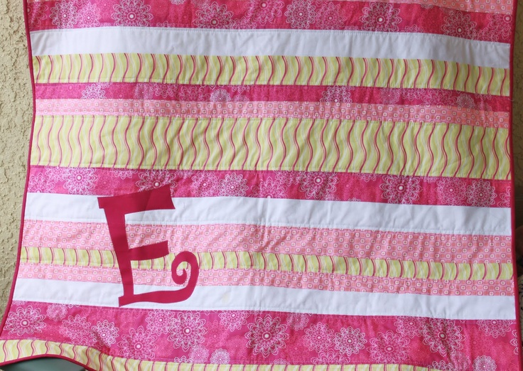 stripes and letter quilt