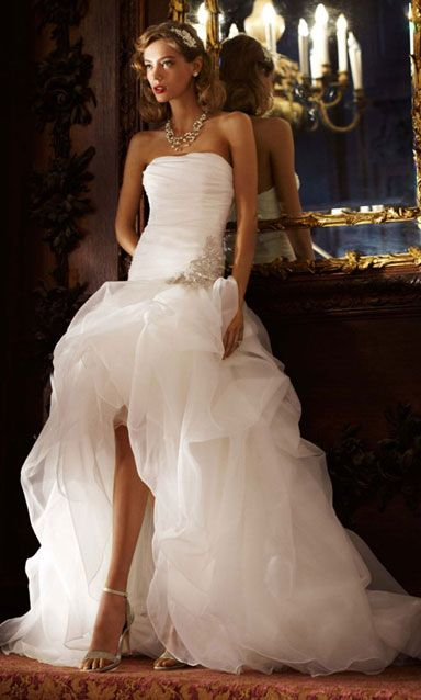 Wedding Dress This Is Cute And I Love The Leg Opening Inspiration Pinterest Dresses Bridal