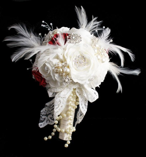 Roses R Red Brooch Bouquet by Saving Face Jewellery This is an example of a vintage brooch bouquet I custom designed for a customer , This bouquet is an example, your bouquet will be simliar but as the brooches are vintage I can never reproduce exactly.The payment above is for