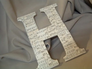 Sheet Music Letter ~ * THE COUNTRY CHIC COTTAGE (DIY, Home Decor, Crafts, Farmhouse)