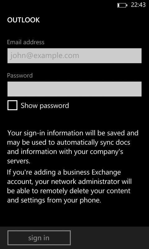 [1] ADD ACCOUNT [iii] Enter email address ([username]@Rebekah K..ac.uk) and password.