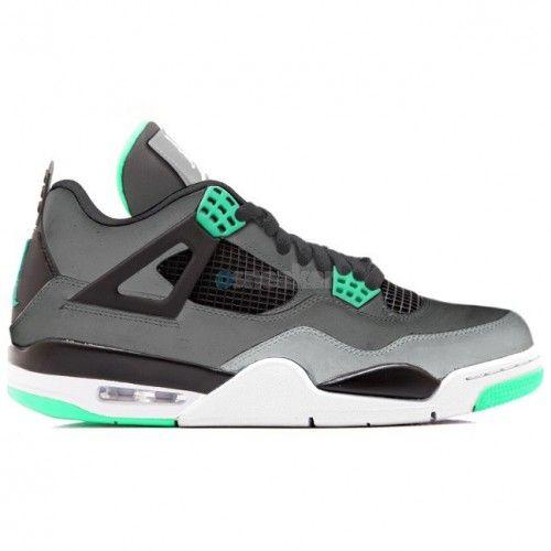Air Jordan 4 Retro Dark Grey/Green Glow-Cement Grey-Black (Women Men) For  Sale