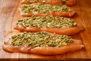 Kalyn's Kitchen®: Recipe for Baked Chicken Breasts Stuffed with Sage-Pecan Pesto and Feta
