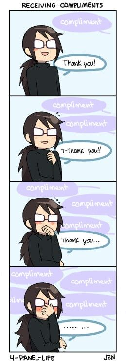 Receiving compliments