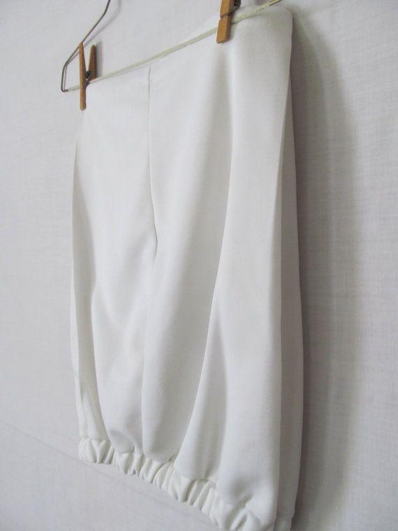 Ladies White Shorts sz L XL Womens White by ReVintageBoutique