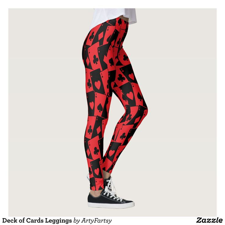 Deck of Cards Leggings : Beautiful #Yoga Pants - #Exercise Leggings and #Running Tights - Health and Training Inspiration - Clothing for #Fitspiration and #Fitspo - #Fitness and #Gym #Inspo - #Motivational #Workout Clothes - Style AND #comfort can both be possible in one perfect pair of custom #leggings. #Deck of Cards Leggings was crafted made with care each pair of leggings is printed before being sewn allowing for #fun and #creative designs on every square inch - Medium weight #fabric is…