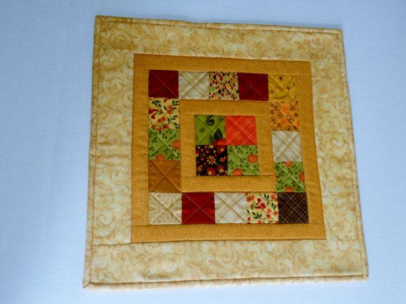 Fall Quilted Table Topper Country Table Runner Fall