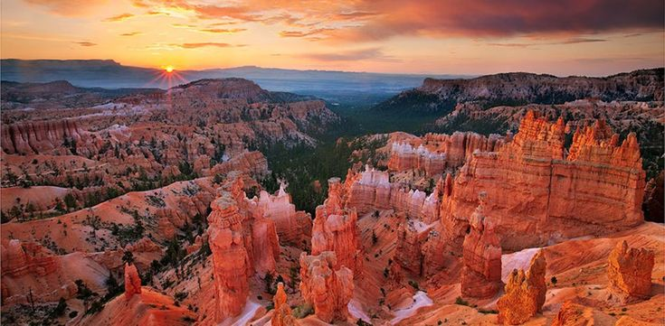Bryce Canyon, Utah - Red-rock hoodoos–odd pillars of rock caused by erosion–create an otherworldly hiking experience in this national park.