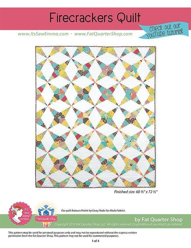 Firecrackers Downloadable PDF Quilt PatternIt's Sew Emma | Fat Quarter Shop