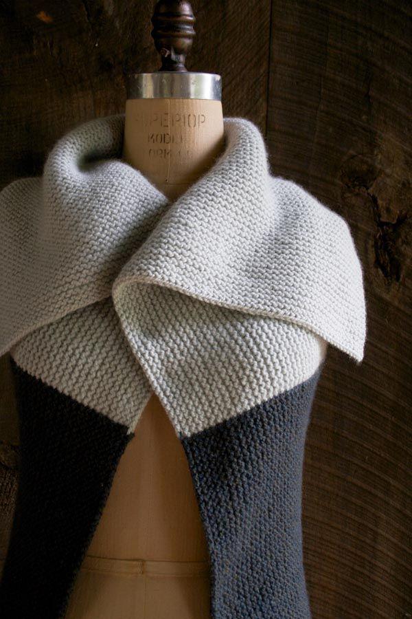 Sideways Garter Vest - Beautiful free vest pattern download from Purl/Soho