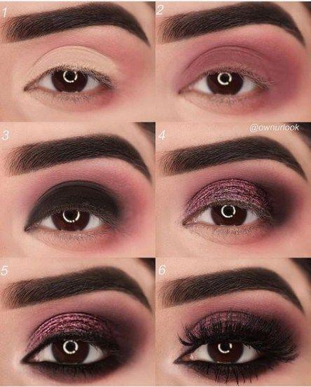Augen Make-up Tutorial Schritt für Schritt Burgund 53+ Neu …