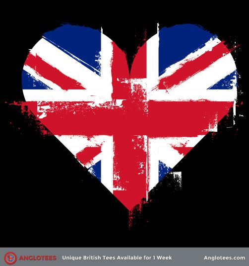 Union Jack Heart - Available for 1 Week Only at Anglotees.com