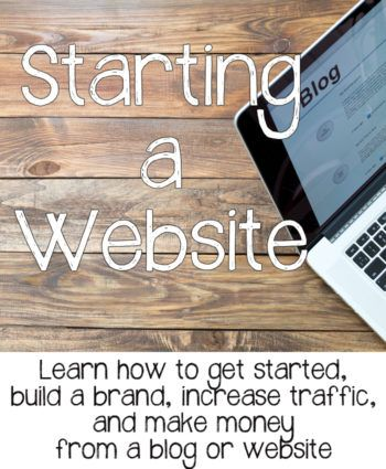 Learn how to start a website or blog and make money from it! Great way to work from home!!