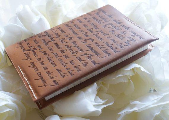 Gepersonaliseerde lederen Notebook cover, hervulbare lederen dagboek, gegraveerd Anniversary gift, gepersonaliseerde lederen dagboek cover, bruin