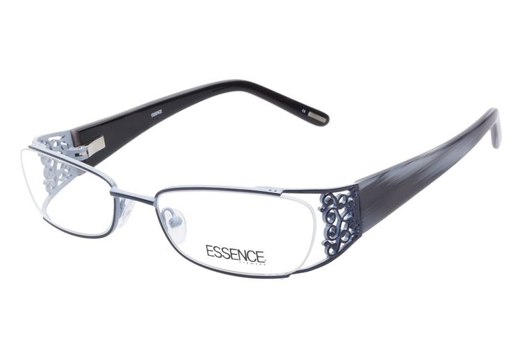Essence Candice Blue eyeglasses are fancy and carefree. This intricate style is designed with an exposed outer edge to the oval lenses, while the rest of the frame has a dark navy overlay and pale blu from @CoastalDotCom