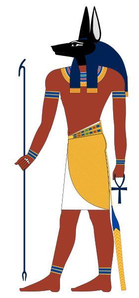 Anúbis  Mumificação, morte, vida após a morte.  Mitologia egípcia.