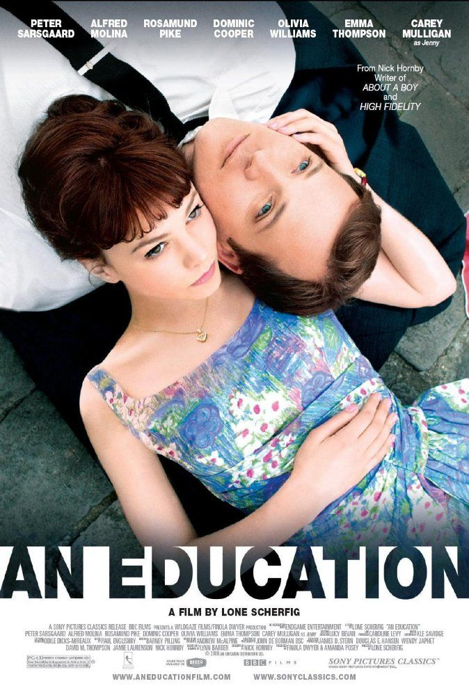 Directed by Lone Scherfig.  With Carey Mulligan, Peter Sarsgaard, Alfred Molina, Olivia Williams. A coming-of-age story about a teenage girl in 1960s suburban London, and how her life changes with the arrival of a playboy nearly twice her age.