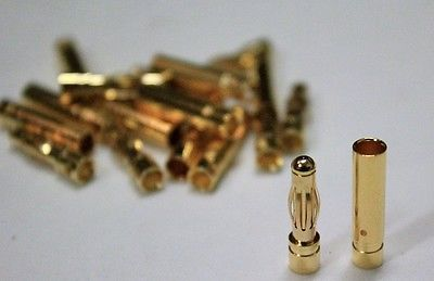 Switches Connectors and Wires 182178: 10Pairs 4Mm Gold Banana Connectors For Esc Motor Rc Plane, Heli, Boat - Usa -> BUY IT NOW ONLY: $97.89 on eBay!