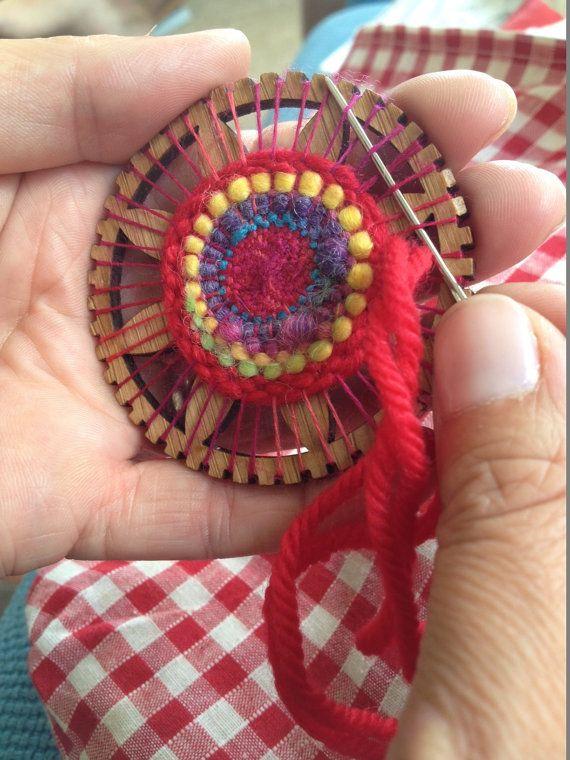 Tiny Circle Weaving Kit von TwillTextileDesign auf Etsy