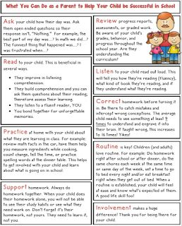 FREE Parent Reminders for a Successful School Year - A hand out for Curriculum or Open House Night