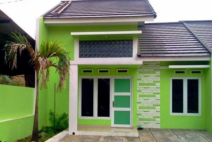 342+ Contoh Desain Cat Warna Rumah Kekinian | Rumah hijau ...