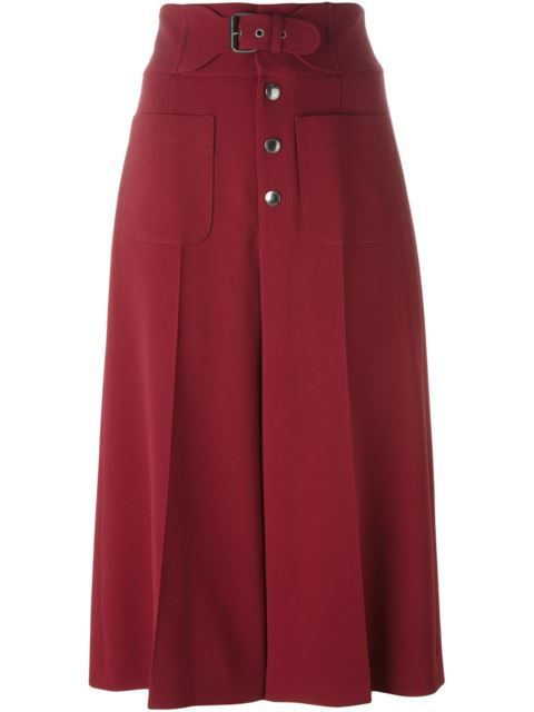 RED VALENTINO High-Waisted Culottes. #redvalentino #cloth #culottes