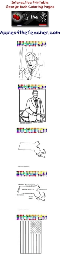 President George H Bush Coloring Pages