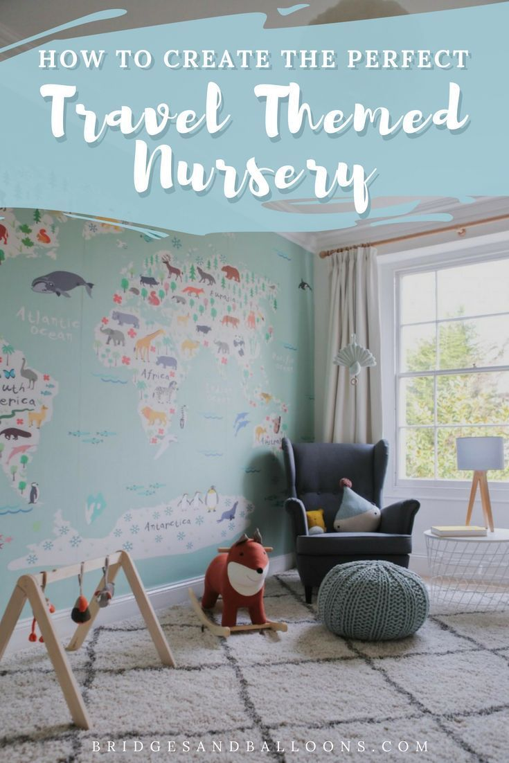 A Travel Themed Nursery For A Future Baby With A Taste For Travel And Adventure Girl Or Boy This Gender Neutral T Travel Theme Nursery Nursery Themes Nursery