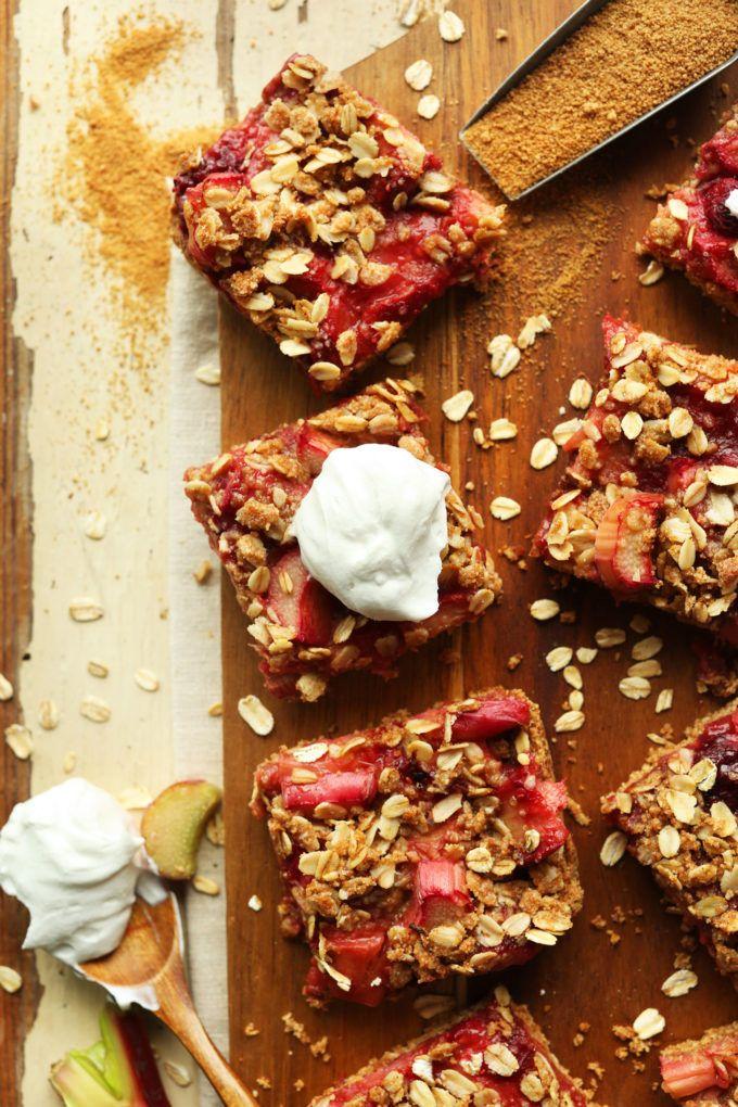 Strawberry Rhubarb Crumble Bars (GF)