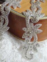 rhinestone bridal Applique, bridal Sash applique, beaded rhinestone trim(China (Mainland))