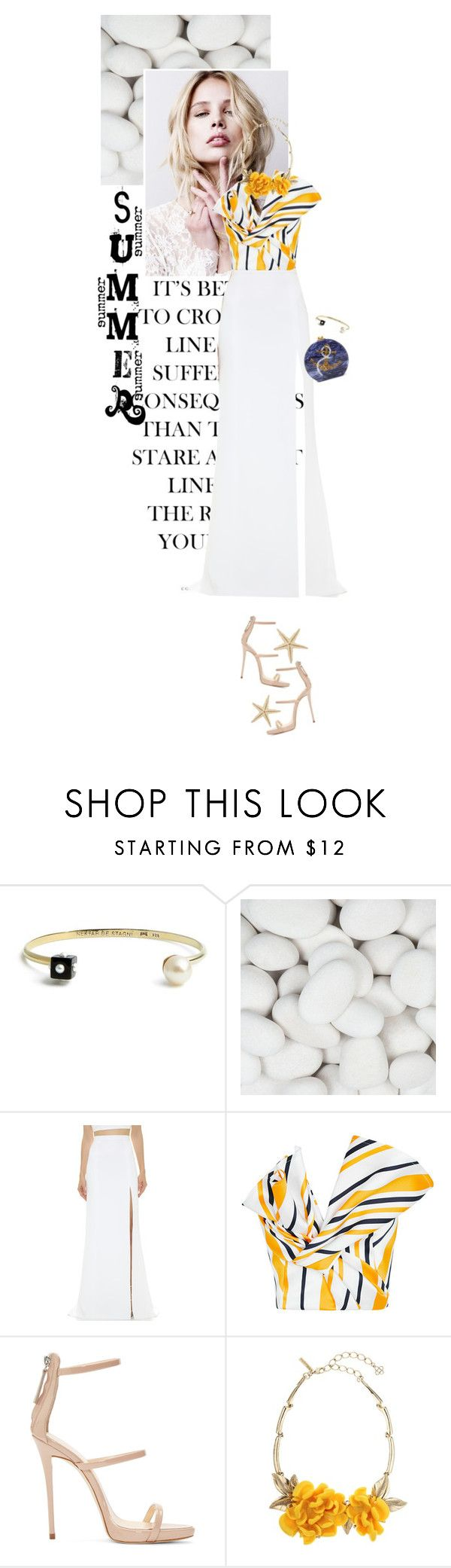 """One Direction: Striped Shirts"" by fashionbrownies ❤ liked on Polyvore featuring Nektar De Stagni, J. Mendel, Maticevski, Giuseppe Zanotti, Oscar de la Renta, Edie Parker and stripes"