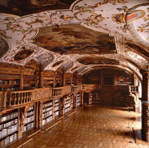 Waldsassen Abbey Library in Bavaria, Germany